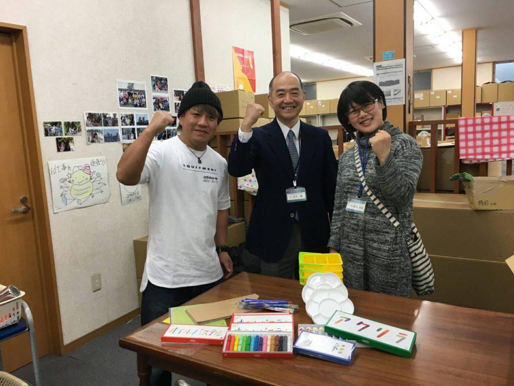 田村和宏が、障がい者施設に美術用画材を提供
