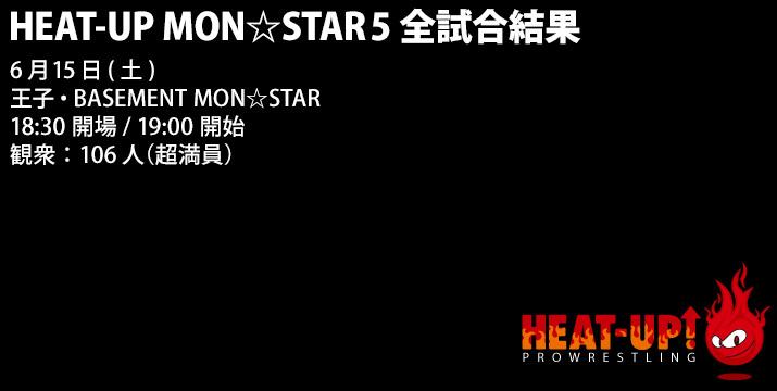 6月15日(土)HEAT-UP MON☆STAR5 全試合結果
