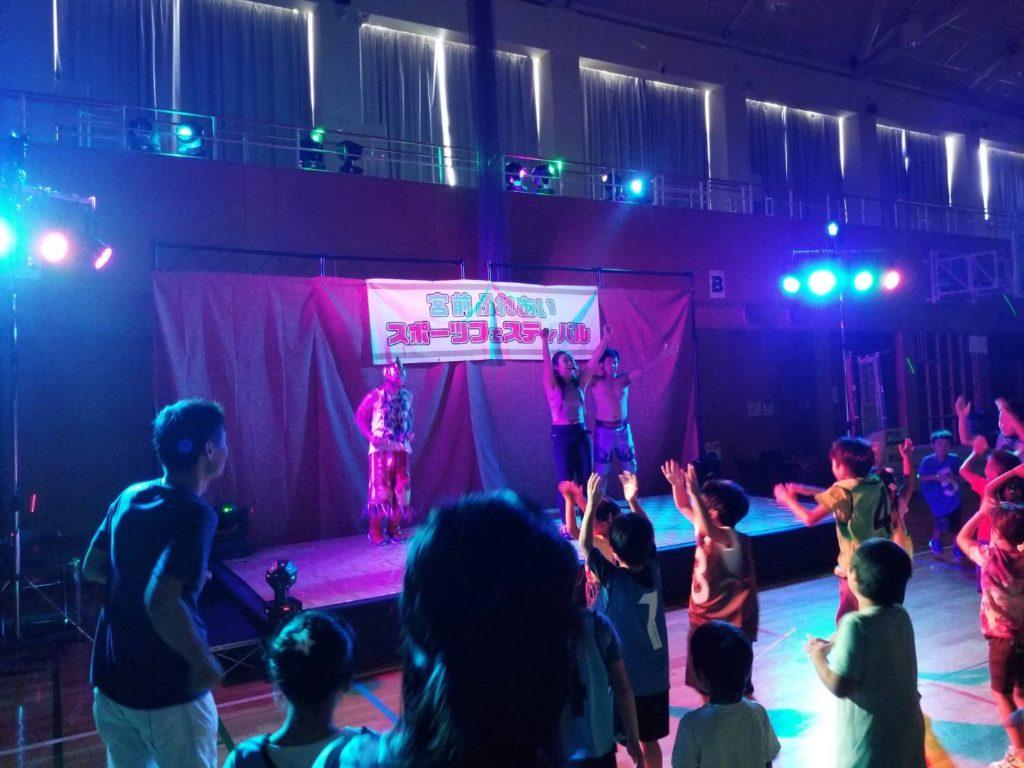 田村、近藤、プリンス・カワサキの3選手が宮前ふれあいスポーツフェスティバルに参加