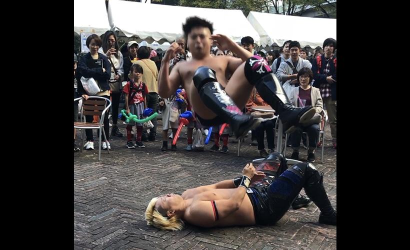 11月4日(月)東京電機大学 旭祭でイベントプロレスを行いました