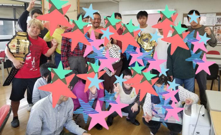 10月31日(木)町田かたつむりの家にTAMURA選手、井土徹也選手、松田慶三選手が訪問しました