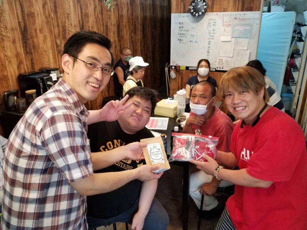 TAMURA選手が就労継続B型事業所レジネスさんを訪問しました